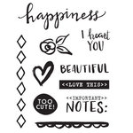 Elle's Studio - Cienna Collection - Clear Acrylic Stamps - Happiness