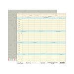 Elle's Studio - Day To Day Collection - 12 x 12 Double Sided Paper - Schedule