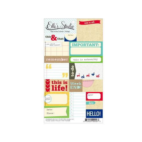 Elle's Studio - Day To Day Collection - Paper Tags - Cutouts