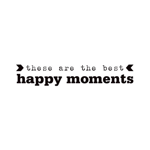 Elle's Studio - Day To Day Collection - Clear Acrylic Stamps - Happy Moments