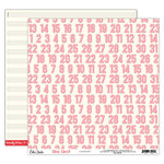 Elle's Studio - Good Cheer Collection - Christmas - 12 x 12 Double Sided Paper - Countdown