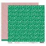 Elle's Studio - Good Cheer Collection - Christmas - 12 x 12 Double Sided Paper - O Christmas Tree