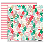 Elle's Studio - Good Cheer Collection - Christmas - 12 x 12 Double Sided Paper - Holiday Quilt