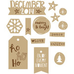 Elle's Studio - Good Cheer Collection - Christmas - Wood Veneers