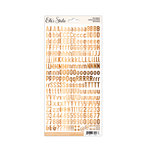 Elle's Studio - Cardstock Stickers - Letters and Numbers - Woodgrain