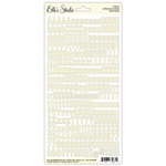 Elle's Studio - Cardstock Stickers - Letters and Numbers - Cream