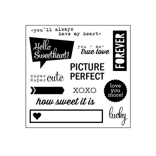Elle's Studio - You and Me Collection - Clear Acrylic Stamps - Hello Sweetheart
