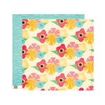 Elle's Studio - Serendipity Collection - 12 x 12 Double Sided Paper - Flowers