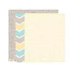 Elle's Studio - Serendipity Collection - 12 x 12 Double Sided Paper - Chevron
