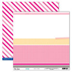 Elle's Studio - Shine Collection - 12 x 12 Double Sided Paper - Beach Towel