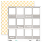 Elle's Studio - Shine Collection - 12 x 12 Double Sided Paper - Say Cheese