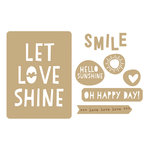 Elle's Studio - Shine Collection - Wood Veneers - Let Love Shine