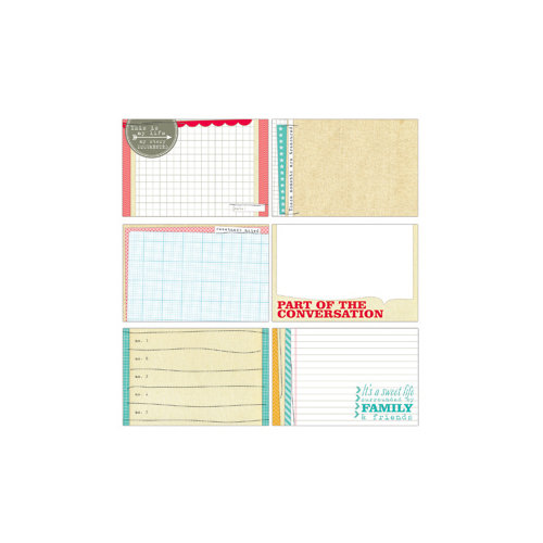 Elle's Studio - The Sweet Life Collection - 4 x 6 Journaling Tags