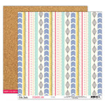 Elle's Studio - Sycamore Lane Collection - 12 x 12 Double Sided Paper - Woven
