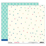Elle's Studio - Sycamore Lane Collection - 12 x 12 Double Sided Paper - Happy