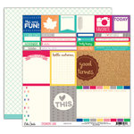 Elle's Studio - Sycamore Lane Collection - 12 x 12 Double Sided Paper - Memories