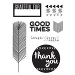 Elle's Studio - Sycamore Lane Collection - Clear Acrylic Stamps - Grateful