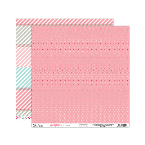 Elle's Studio - You and Me Collection - 12 x 12 Double Sided Paper - Mixed Dots