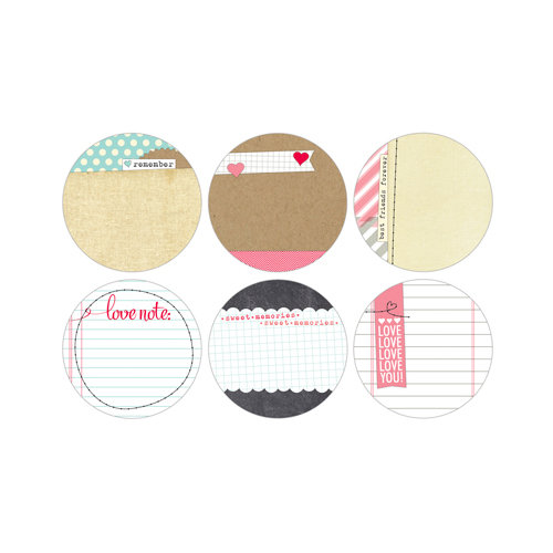 Elle's Studio - You and Me Collection - Tags - 3 Inch Circles