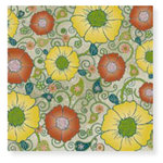 Fiskars - Cloud 9 Design - Kensington Gardens Collection - 12 x 12 Sparkle Paper - Flower Garden, CLEARANCE