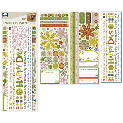 Fiskars - Cloud 9 Design - Kensington Gardens Collection - Embellishment Kit, CLEARANCE