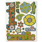 Fiskars - Cloud 9 Design - Kensington Gardens Collection - 3-D Chipboard Stickers, CLEARANCE