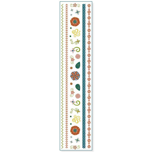 Fiskars - Cloud 9 Design - Kensington Gardens Collection - Clear Sparkle Stickers - Elements and Stitches, CLEARANCE
