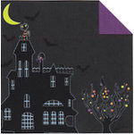 Fiskars - Cloud 9 Design - Halloween Fun Collection - 12 x 12 Double Sided Luster Paper - Haunted House