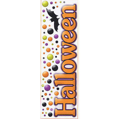 Fiskars - Cloud 9 Design - Halloween Fun Collection - Rain Dots Stickers - Title