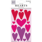 Fiskars - Heidi Grace Designs - Valentines Day Collection - Epoxy Stickers - Raised Hearts, CLEARANCE