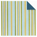Fiskars - Cloud 9 Design - Finley's Estate Collection - 12 x 12 Double Sided Paper - Multi Stripe, CLEARANCE