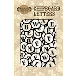 Fiskars - Kimberly Poloson - Letters Home Collection - Chipboard Letters Tags, CLEARANCE