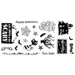 Fiskars - Cloud 9 Design - Clear Acrylic Stamps - 4 x 8 - Halloween Fun, CLEARANCE