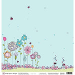Fiskars - Heidi Grace Designs - Sweetest Bug Collection - 12 x 12 Double Sided Paper - Picture Perfect Day, BRAND NEW