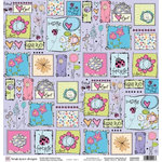 Fiskars - Heidi Grace Designs - Sweetest Bug Collection - 12 x 12 Double Sided Paper - Charming Collage, CLEARANCE