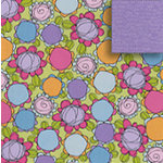 Fiskars - Heidi Grace Designs - Sweetest Bug Collection - 12 x 12 Double Sided Paper - Fun Bouquet, CLEARANCE