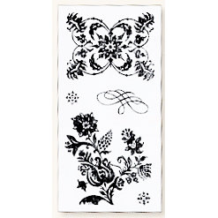Fiskars - Kimberly Poloson - Nature's Flora Collection - Clear Acrylic Stamps - 4 x 8 - Tapestry, CLEARANCE