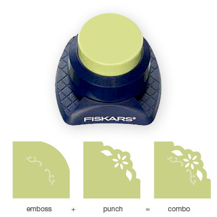 Fiskars - Combo Corner Punch - Sunflower