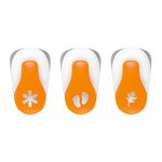 Fiskars - Lever Punch - Small - 3 Pack - Snowflake, Feet and Leaf