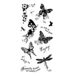 Fiskars - Clear Acrylic Stamps - 4 x 8 - Butterfly Magic