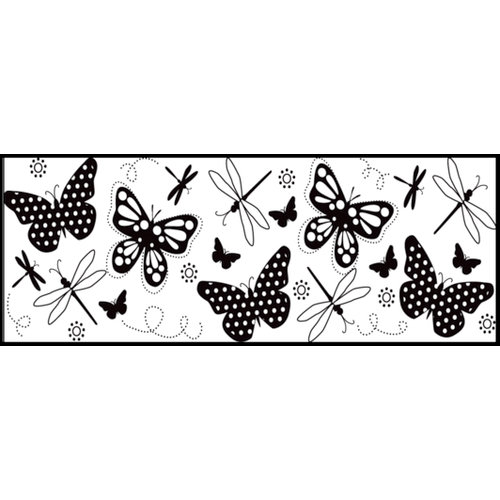 Fiskars - Continuous Stamp - Clear Acrylic Stamps - Summer Wings
