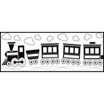 Fiskars - Continuous Stamp - Clear Acrylic Stamps - Choo Choo