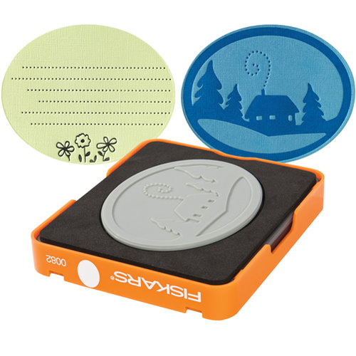 Fiskars - Fuse Creativity System - Die Cutting Design Set - Medium - Simple Pattern - Oval