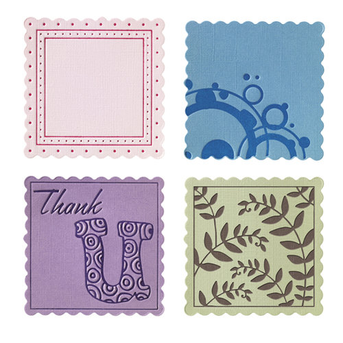 Fiskars - Fuse Creativity System - Die Cutting Design Set - Plate Expansion Pack - Medium - Scalloped Square