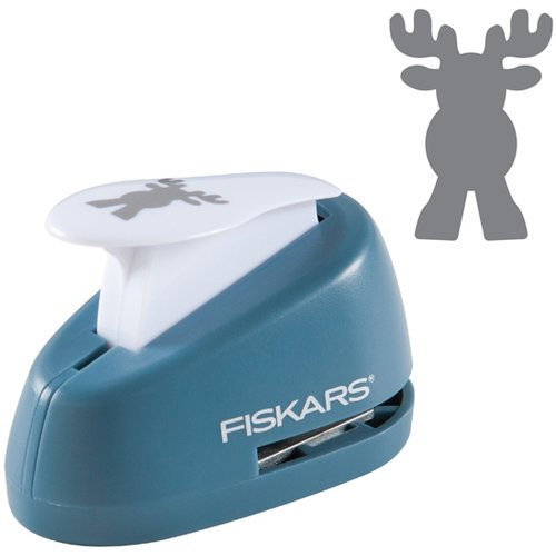 Fiskars - Christmas - Lever Punch - Medium - Reindeer Games