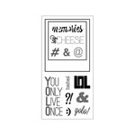 Fiskars - Clear Acrylic Stamps - Say Cheese