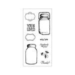 Fiskars - Clear Acrylic Stamps - Vintage Jars