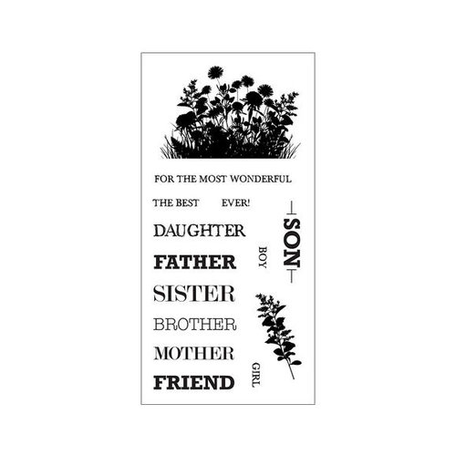 Fiskars - Clear Acrylic Stamps - Celebrate Family