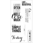 Fiskars - Teresa Collins - Clear Acrylic Stamps - Happy Day