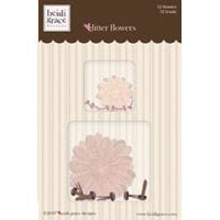 Fiskars - Heidi Grace Designs - Glitter Flowers - Cherry Wood Lane Collection, CLEARANCE